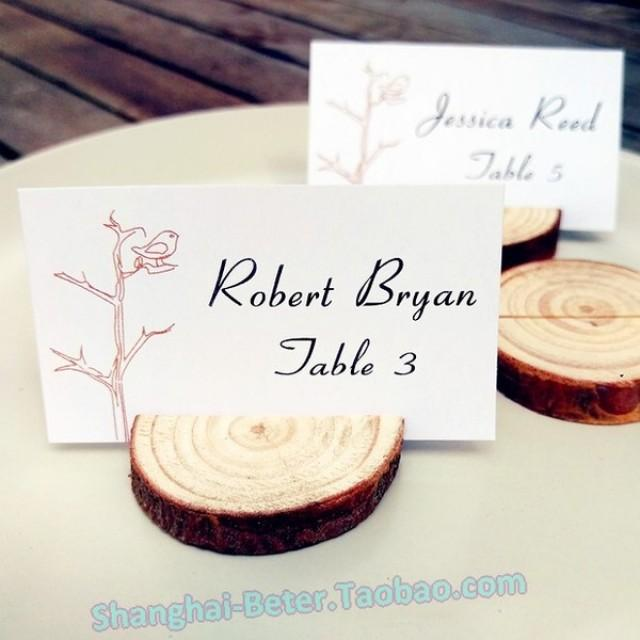 wedding photo - Beter Gifts® 原木質森系桌卡婚宴婚禮席位卡留言牌ZH042簽到甜品裝飾歐式宜家 #rusticwedding
