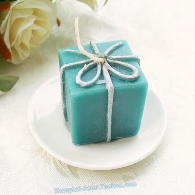 wedding photo - Beter Gifts® Tiffany Wedding Favor 歐式婚慶禮盒小蠟燭LZ028/A創意貴婦下午茶派對佈置來賓小禮物 #rusticwedding