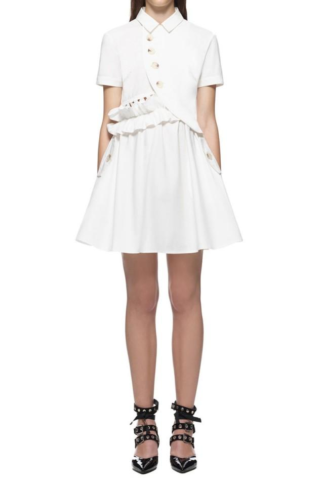 wedding photo - Self Portrait Button Shirt Mini Dress