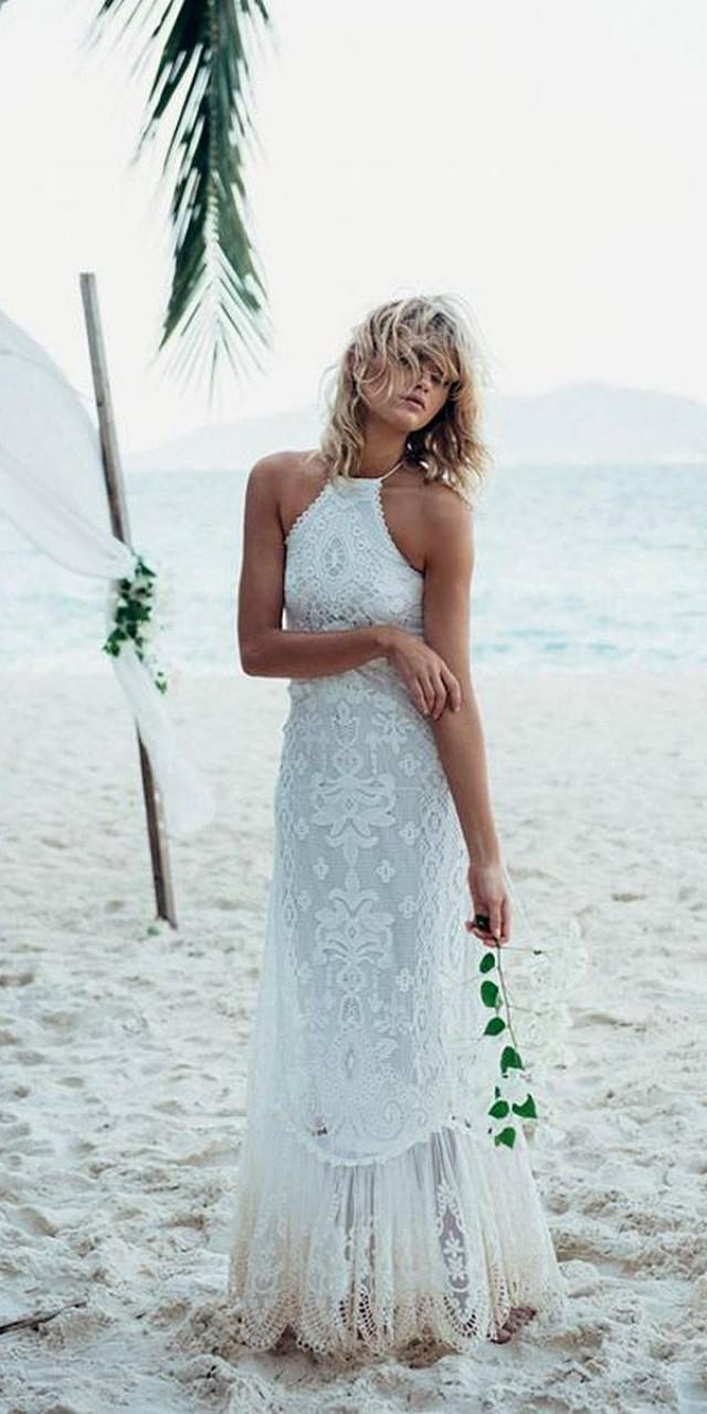 27 beach wedding dresses perfect for destination weddings for Wedding dresses in west palm beach