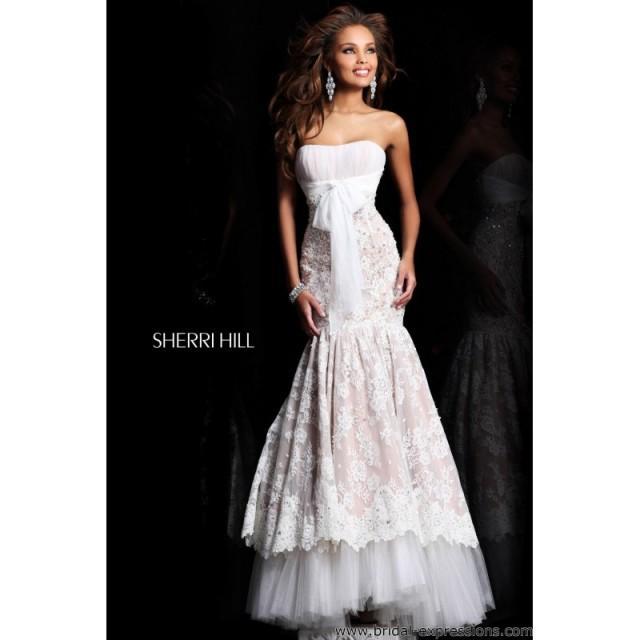 Sherri Hill 21010 Lace Mermaid Prom Dress - Crazy Sale Bridal Dresses