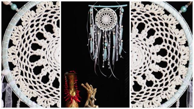 wedding photo - Dreamcatcher Mint Dream Catcher white Dreamcatcher New Dream сatcher gift idea dreamcatchers boho dreamcatcher wall handmade idea gift mint