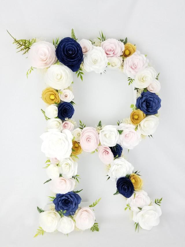 "wedding photo - 23"" Paper flower Letter"