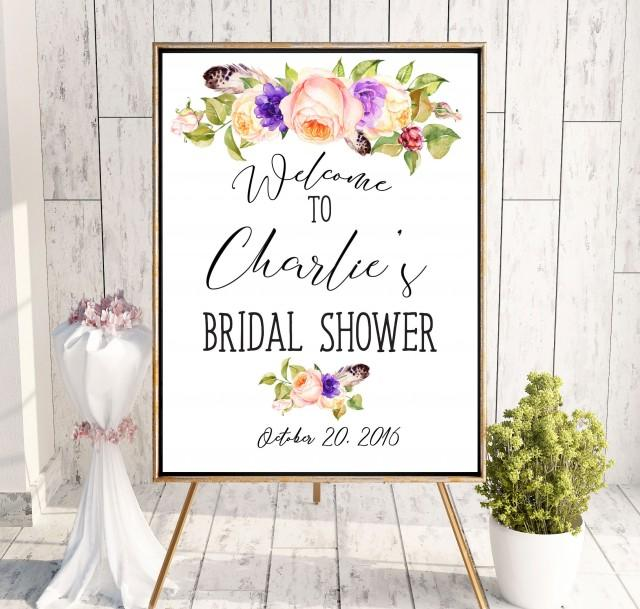 wedding photo - Countdown Bridal Shower Printable Welcome Sign Bridal Shower decoration Instant Download Bridal Shower banner Welcome Sign Shower idbs19 - $10.00 USD