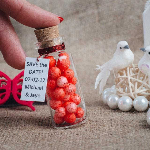 wedding photo - Wedding favors Gifts Mementos favors Red wedding Boho wedding favors Mini bottle favors Red favors for wedding party Boho favors - $2.29 USD