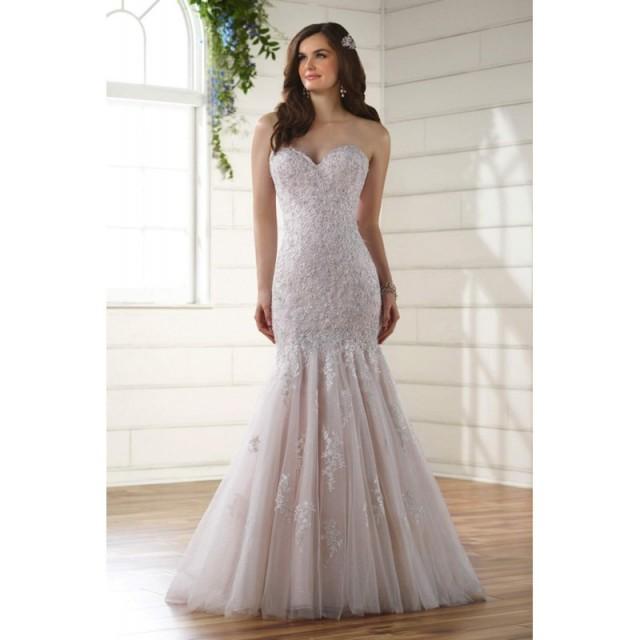 Plus-Size Dresses Style D2116 by Essense of Australia - Ivory  White  Blush Lace Floor Sweetheart  Strapless Wedding Dresses - Bridesmaid Dress Online Shop