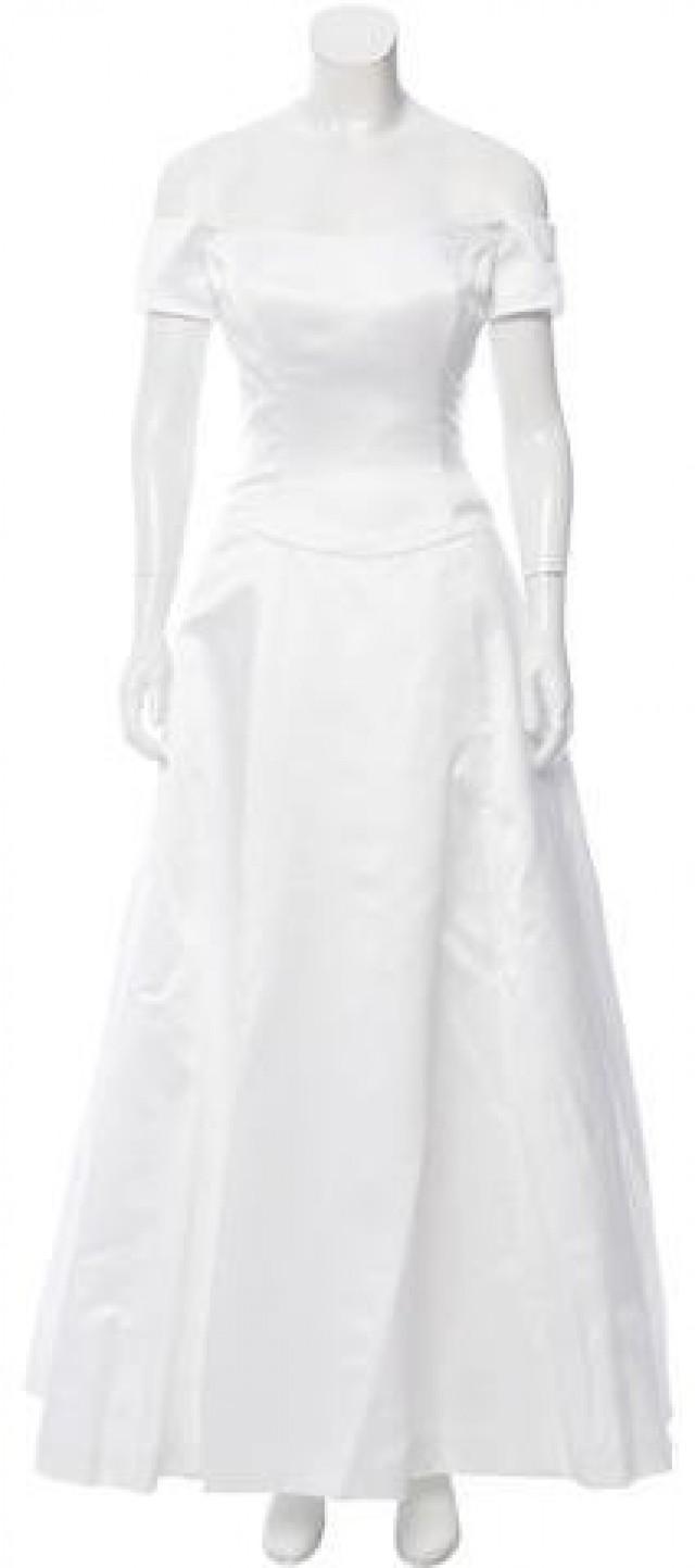 Vera Wang Satin Bridal Gown