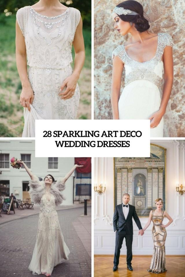 28 Sparkling Art Deco Wedding Dresses - Weddingomania