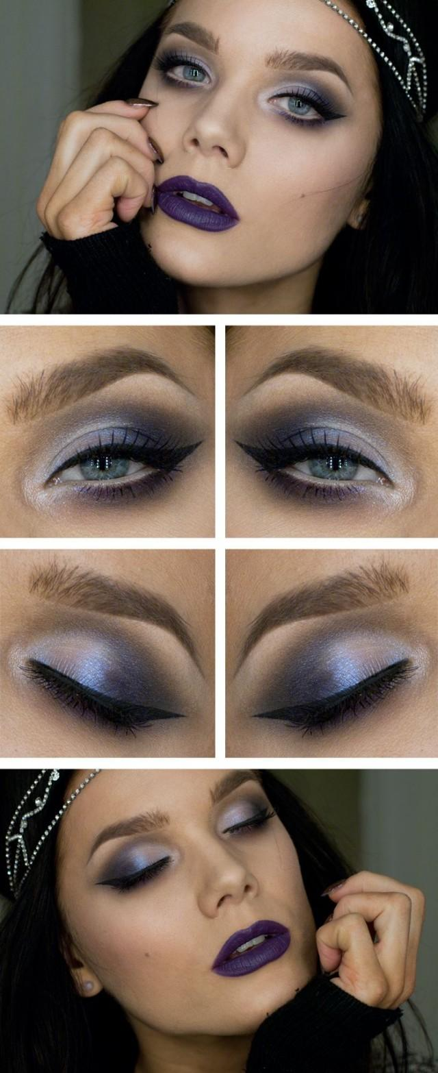Smokey Metallic Blue Eyes