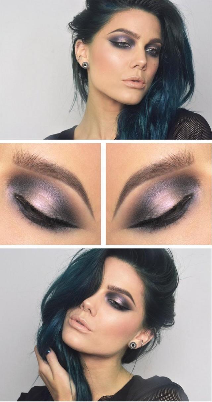 Metallic Purple Eye Shadow