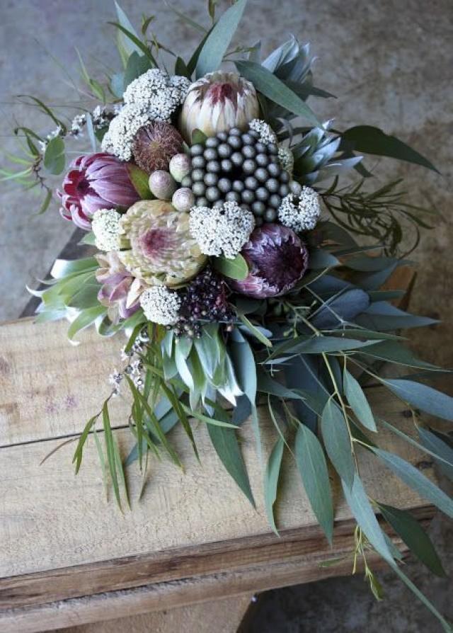 Protea & Native Wedding Bouquets