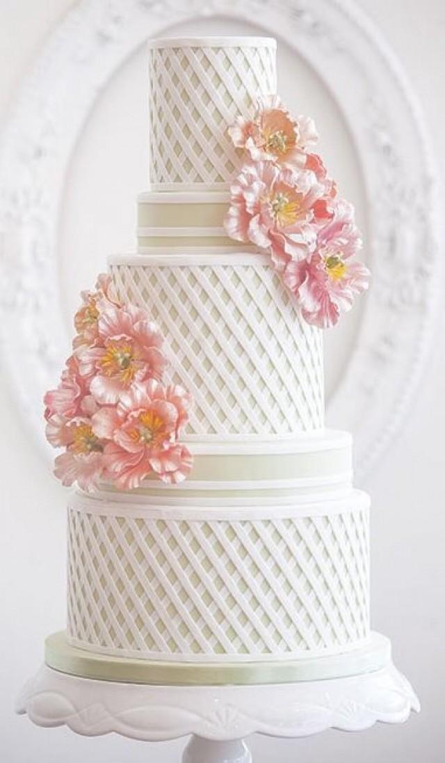 wedding photo - Stripped Cake
