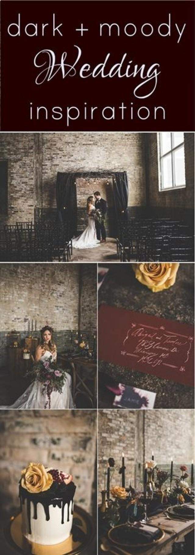 Dark And Moody Wedding Styled Shoot