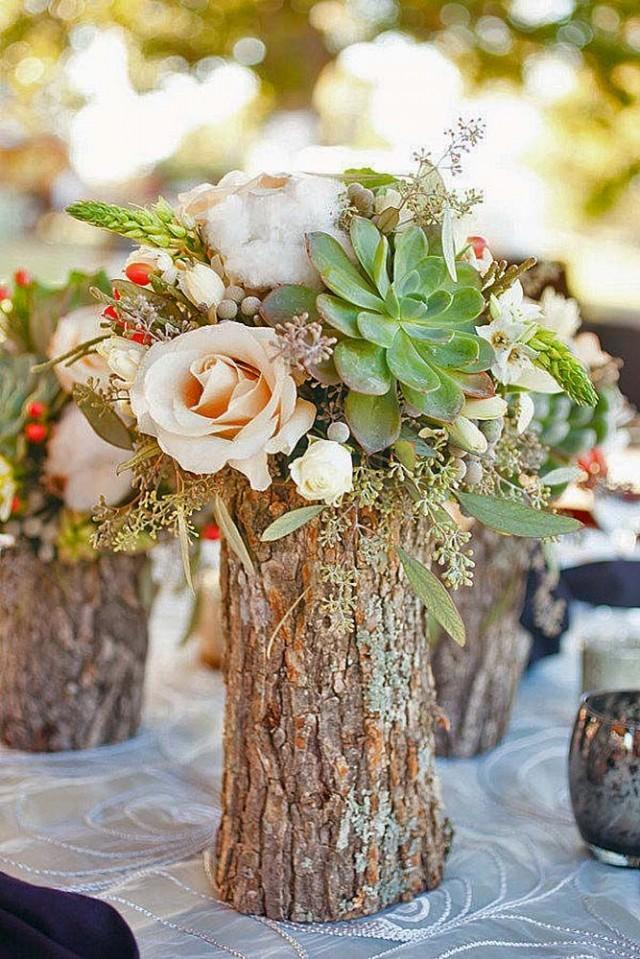 wedding photo - Wooden Centerpiece