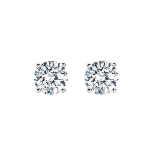 wedding photo - 0.66 Carat TW Round Diamond Stud Earrings, GIA Diamonds, Anniversary Gifts for Women, Fine Jewelry Gifts, Custom Jewelers, Christmas, 4.4mm - $1595.00 USD