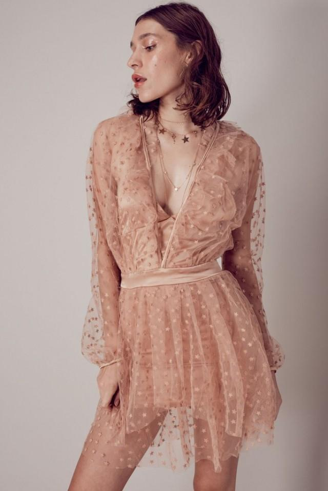 wedding photo - FOR LOVE & LEMONS ALL THAT GLITTERS MINI DRESS