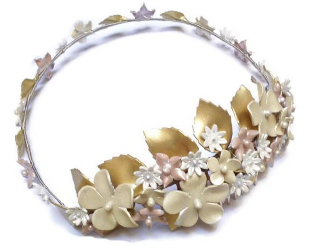 wedding photo - Flower wedding crown