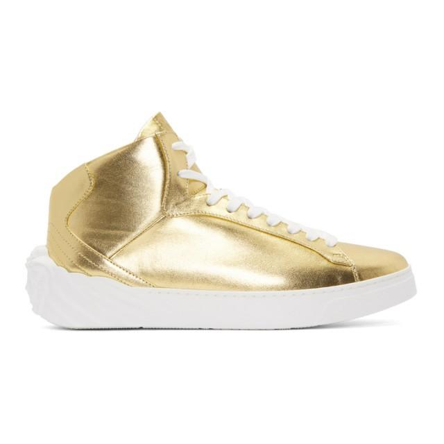 wedding photo - Versace Gold Back Medusa Head High-Top Sneakers