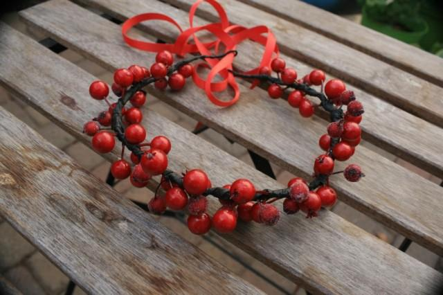 wedding photo - Red Winter boho gift Wedding wreath Bridal flower hair crown Red Bridal floral halo Bridal rustic crown Bridal hair piece Valentine gift - $10.95 USD