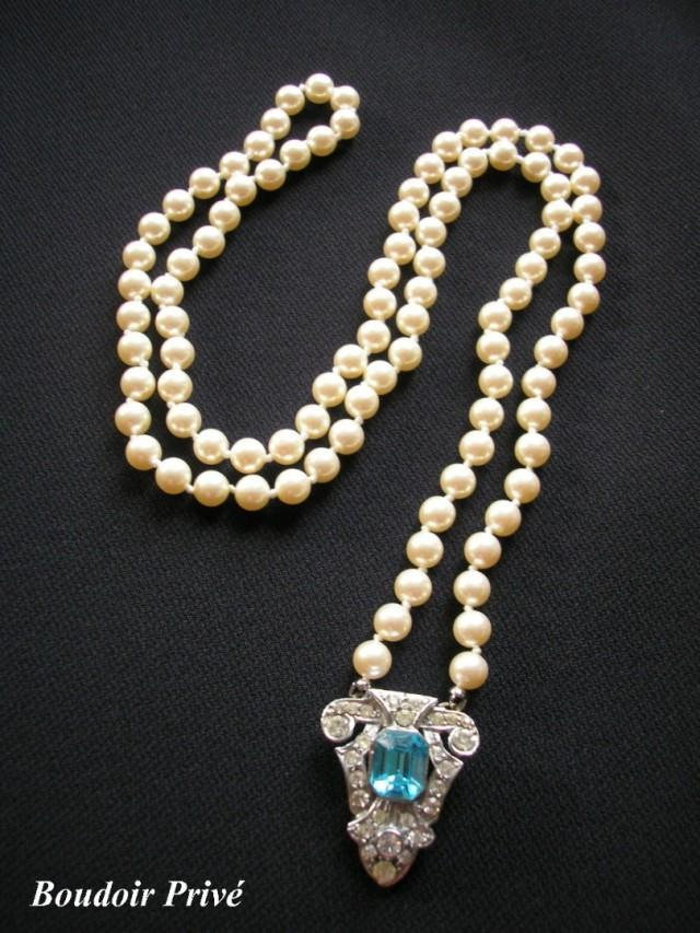 wedding photo - Art Deco Backdrop Necklace