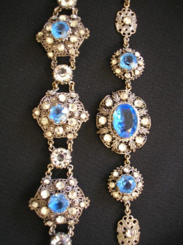 wedding photo - Art Deco Czech Filigree Jewelry Set