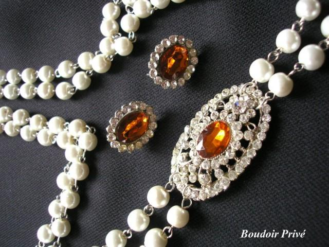 wedding photo - Long Pearl Necklace