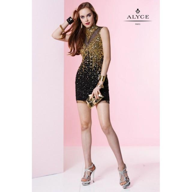 Black/Gold Alyce Paris Homecoming 4424 Alyce Paris Shorts - Rich Your Wedding Day
