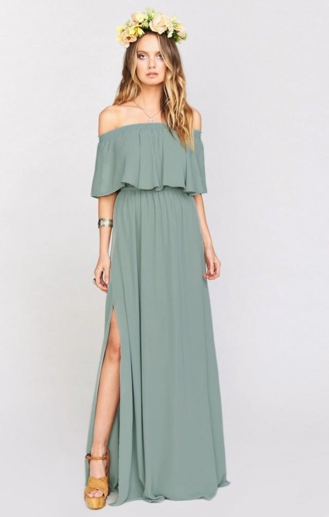 Hacienda Maxi Dress ~ Silver Sage Crisp