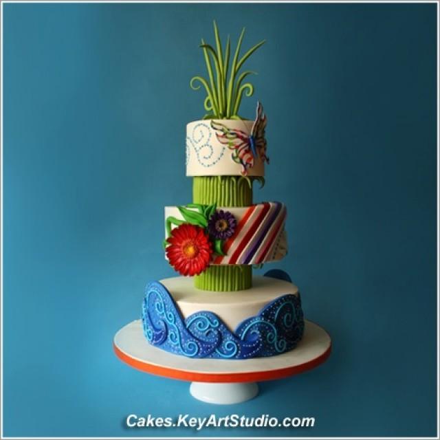 Summer Time Wedding Cake