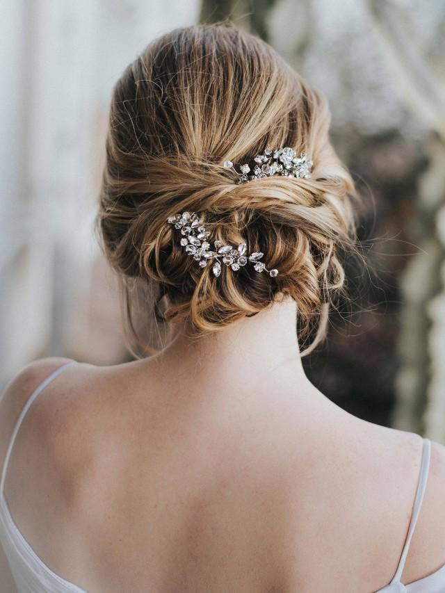 "Wedding Hair Accessories, Bridal Hair Pin, Bridal Hair Accessories, Bridal Headpiece ~ ""Addison"" Wedding Hair Pin in Silver, Gold, Rose Gold"