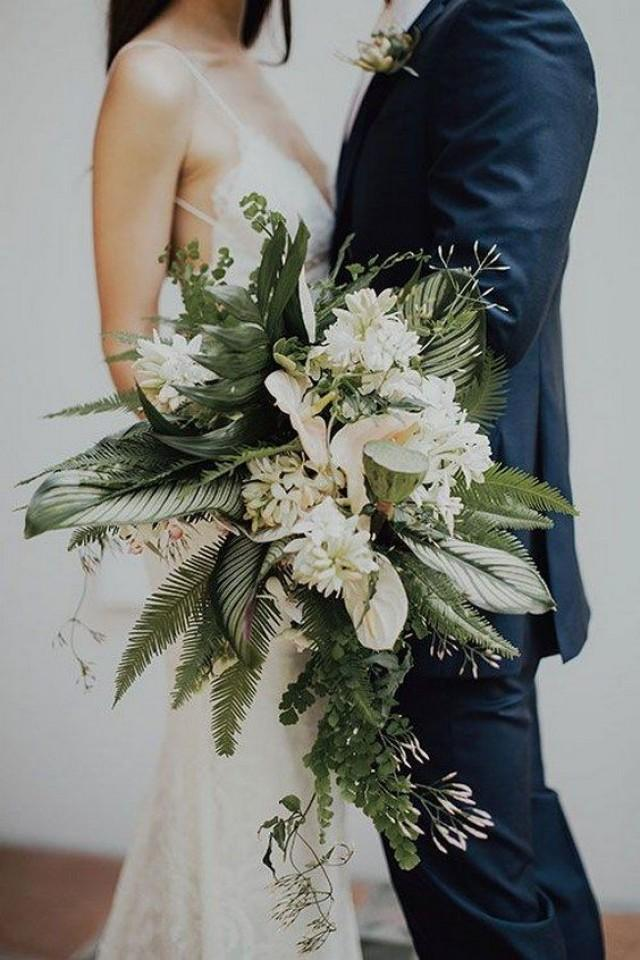 50 Green Tropical Leaves Wedding Ideas
