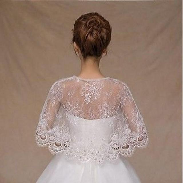 Sleeveless Lace Wedding Party Evening Casual Office & Career Wedding Wraps With Rhinestone Capelets