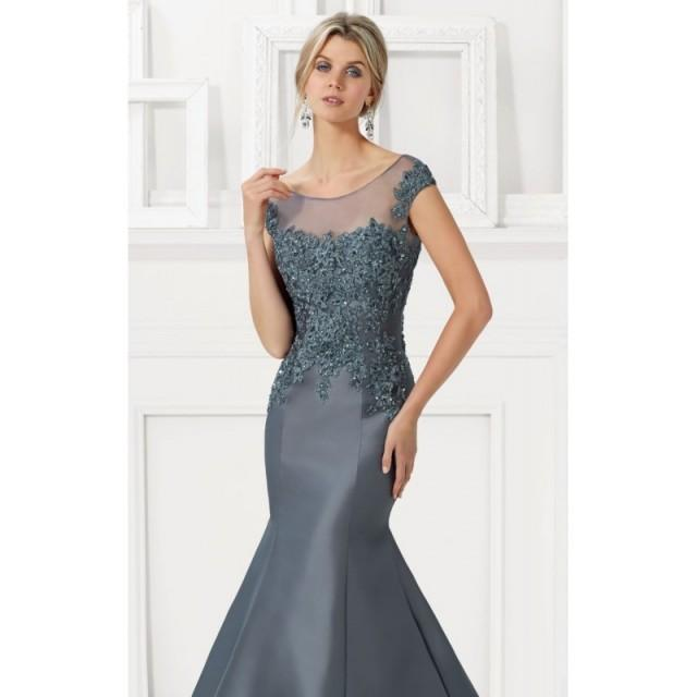 Beaded Lace Mermaid Gown by MGNY by Mori Lee - Color Your Classy Wardrobe