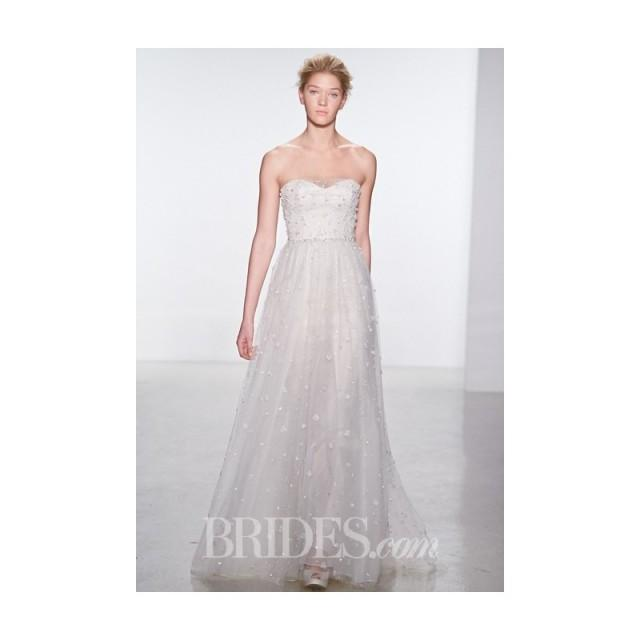 wedding photo - Christos - Spring 2015 - Strapless Beaded A-Line Wedding Dress with a Sweetheart Neckline - Stunning Cheap Wedding Dresses