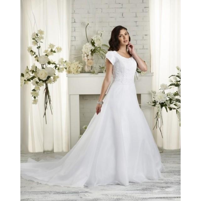 Bonny Bliss 2504 Modest Lace A-Line Wedding Dress - Crazy Sale Bridal Dresses