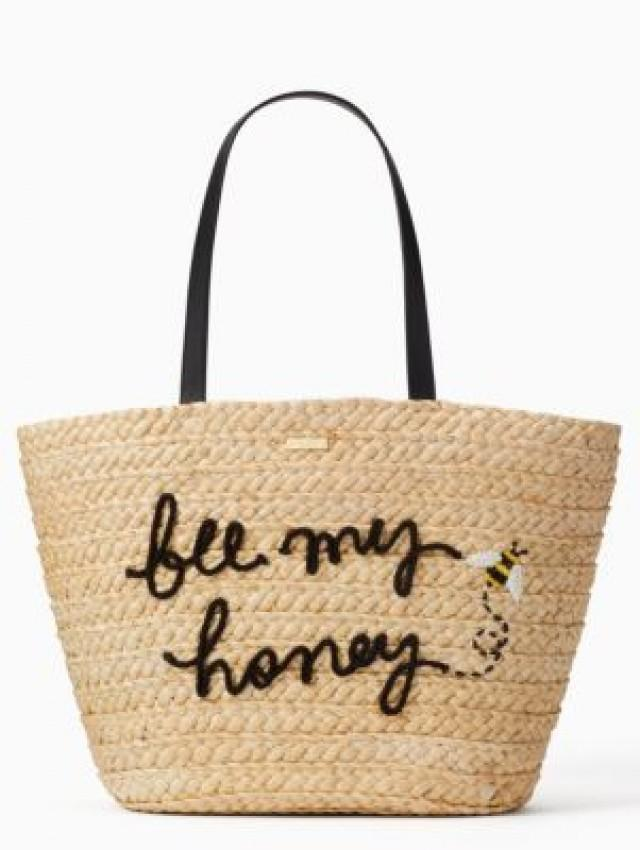 Kate Spade Picnic Perfect Straw Bee Tote
