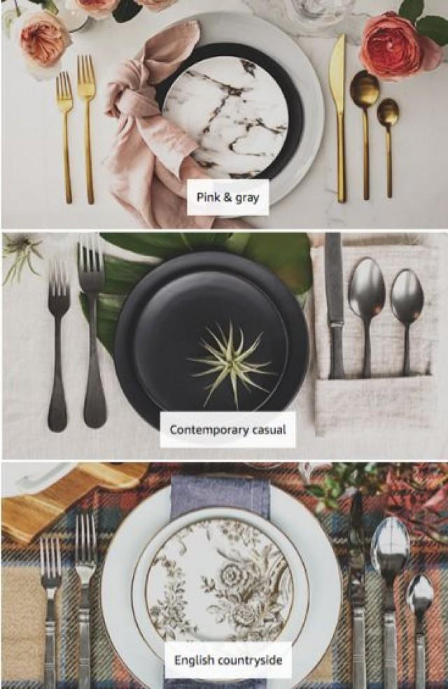 Beautiful Tablescapes - Love The Marble One With The Gold Flatware And Dusty Pink Napkin. #placesetting #styledpretty