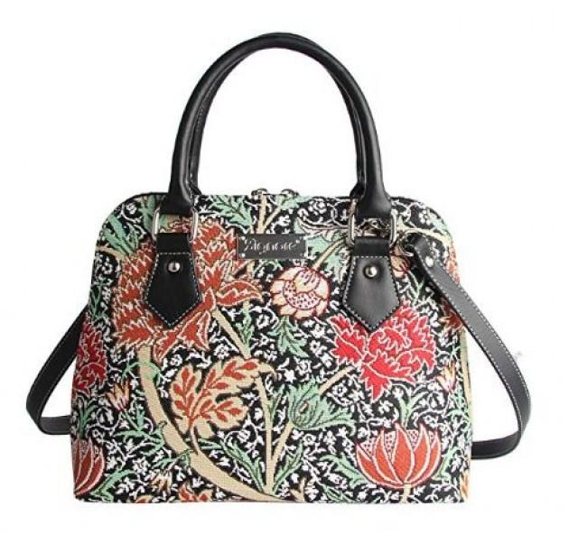 Designer William Morris The Cray Floral Tapestry Top Handle Handbag With Detachable Strap To Convert To Shoulder Bag By Signare (CONV-CRAY). #bag #…
