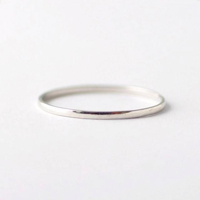 Half Round PT950 Platinum Band: Matching Wedding Rings