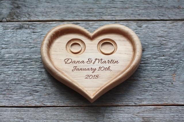 Heart shaped Pillow Wedding ring box alternative Wedding heart Wedding plaque Wedding Ring Dish Wedding Ring Plate Wedding Ring Bearer