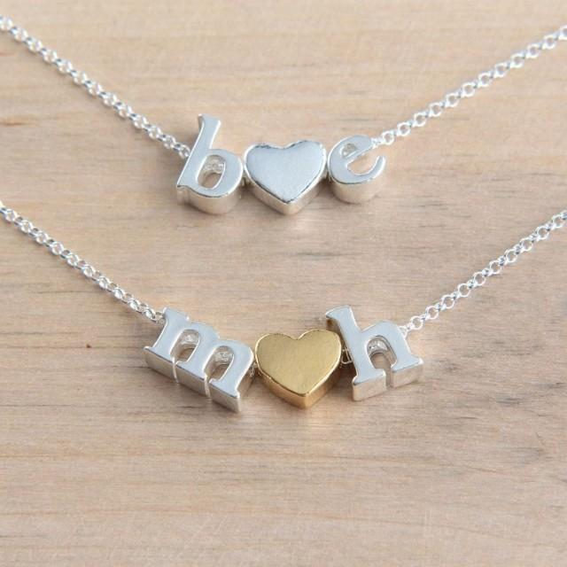 Personalized Necklace, Silver Letter Necklace, Alphabet Necklace, Initials Necklace, Sterling Silver Letter Necklace, Tiny Letter Necklace