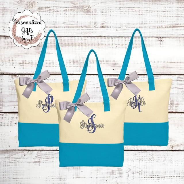 Wedding Tote Personalized Bridesmaid Gift Tote Bag Monogrammed Tote Bridesmaids Tote Personalized Tote