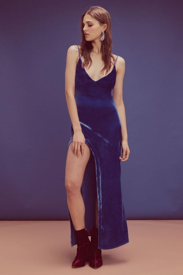 wedding photo - For Love and Lemons Nadine Velvet Maxi Dress