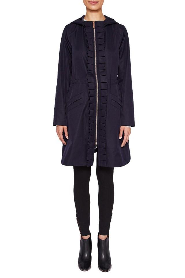 wedding photo - Ted Baker Zowe Ruffle Detail Hooded Parka