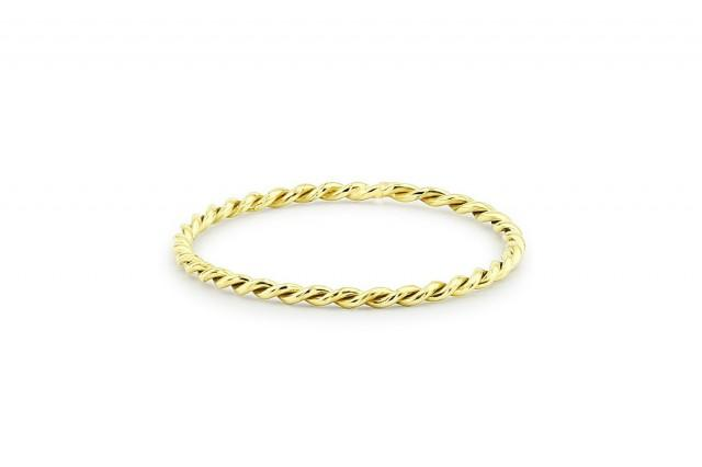 Twist Ring - 14k Solid Gold Twisted Rope Wedding Band - Twist Stacking Ring -  1.2 mm Wedding Ring - Wedding Band