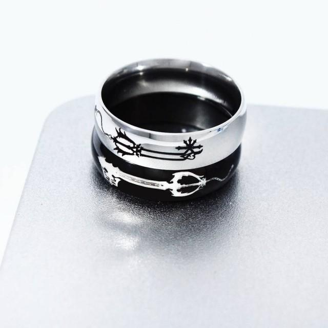 Kingdom Hearts Ring, Geekery, Oblivion and Oathkeeper Keyblade, Couple Rings, Matching Ring, Keyblade Ring, Keyblade Necklace, Couples Rings