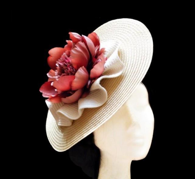 wedding photo - Flower wedding hat. Kentucky derby. Ascot hat.