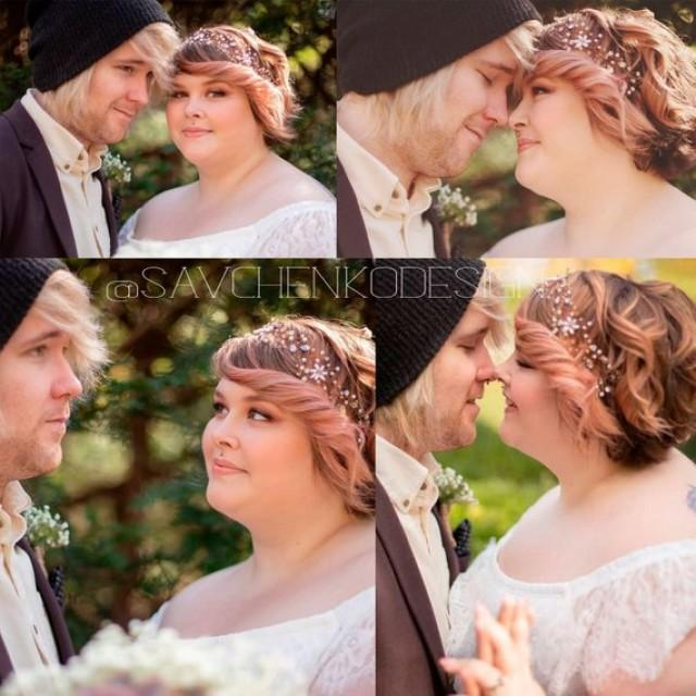 wedding photo - Extra long hair vine-baby's breath crystal hair vine- Pearl Bridal Vine-Crystal Wreath-Grinalda Hera em cristais-Wedding Hair Accessory