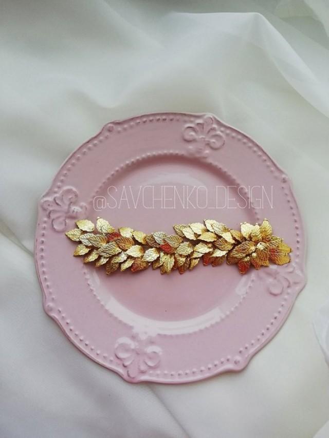 wedding photo - Wedding gold hair vine