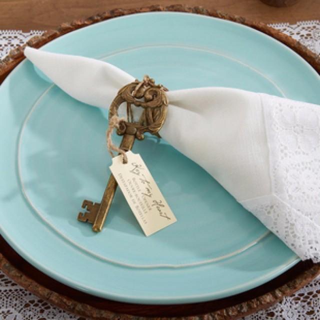 wedding photo - Beter Gifts®北歐創意做舊設計金色鑰匙開瓶器合金桌面啤酒啓瓶器起子HH030